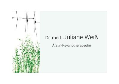 Juliane Weiß, Visitenkarte vorne