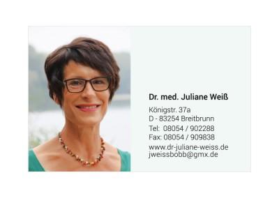 Juliane Weiß, Visitenkarte hinten