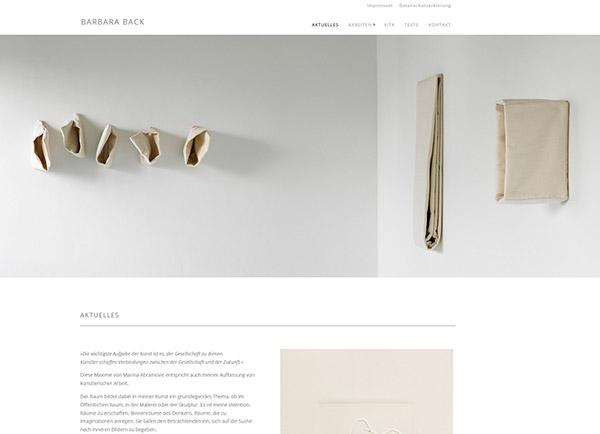 Zur Homepage des Kunstportfolios von Barbara Back