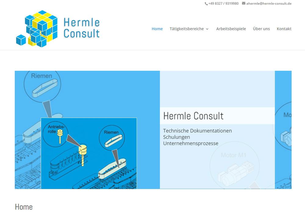 Responsives Webdesign für Hermle Consult
