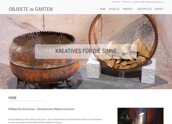 """Zur Homepage von """"Objekte im Garten"""""""