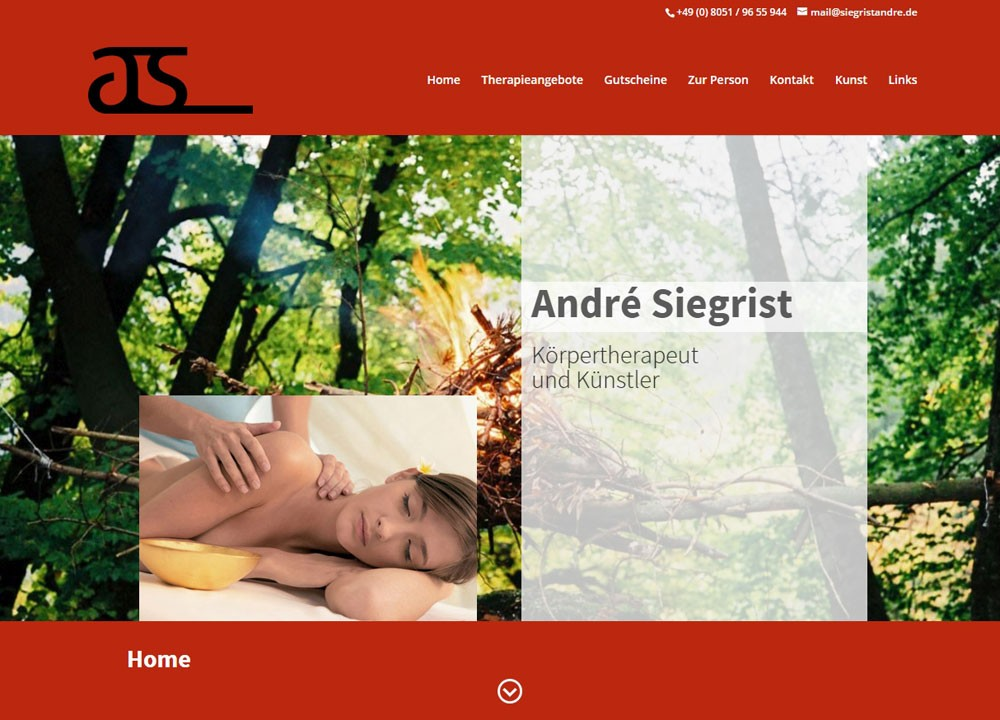 André Siegrist, Körpertherapeut