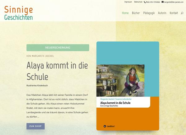 """Zur Homepage von """"Sinnige Geschichten"""""""