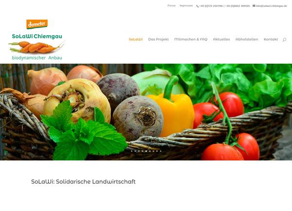Webdesign SoLaWi Chiemgau | UNDO