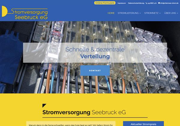 Zur Homepage der Stromversorgung Seebruck eG