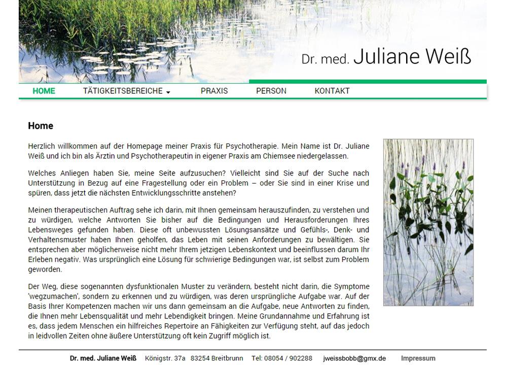 Homepage Juliane Weiß